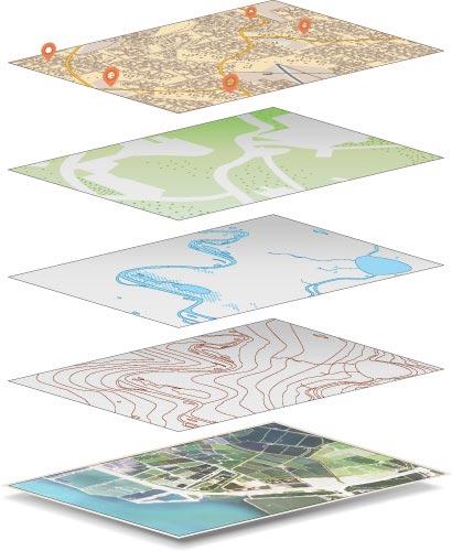 GIS 圖層示意圖