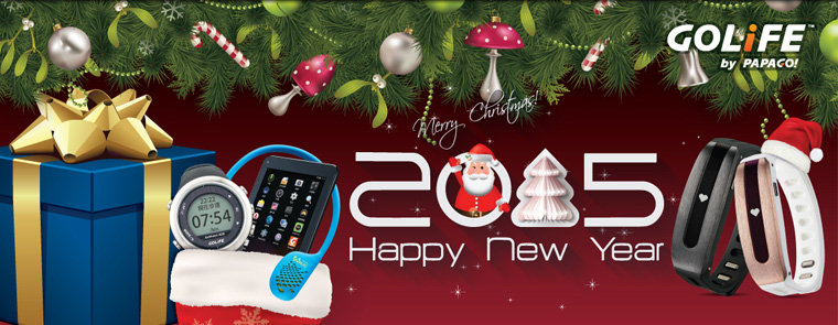 GOLiFE 祝您聖誕節快樂!2015 Happy New Year!