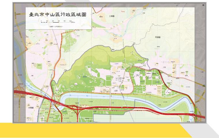 指定影像套疊範圍及影像 URL 以疊加影像至地圖