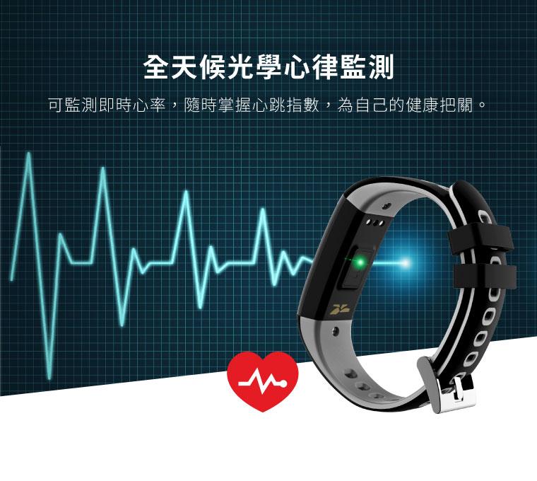 全天候光學心律監測|可監測即時心率,隨時掌握心跳指數,為自己的健康把關