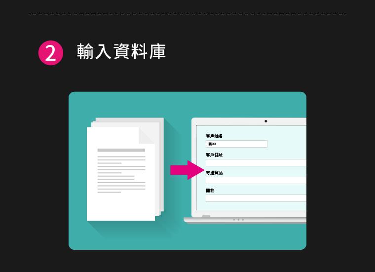 (2)輸入資料庫